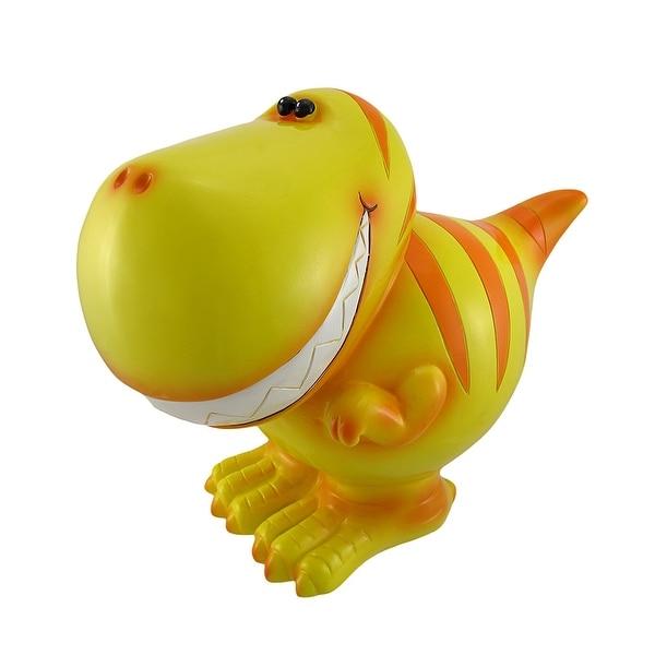 Children`s Jumbo Yellow T-Rex Dinosaur Coin Bank - 10 X 12 X 7 inches