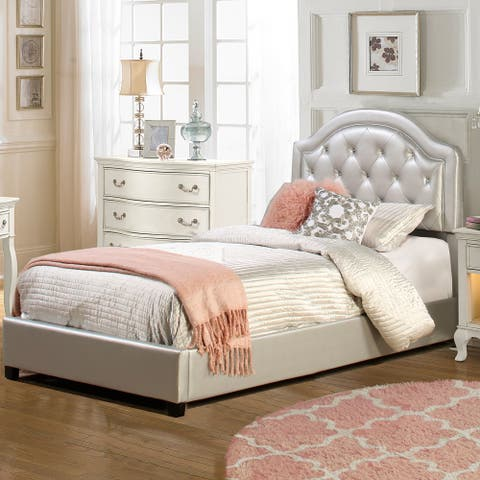 Silver Orchid Heston Bed Set with Rails Included