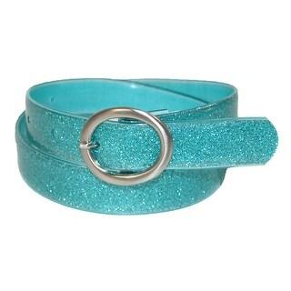 Landes Girls' Center Bar Buckle Glitter Belt