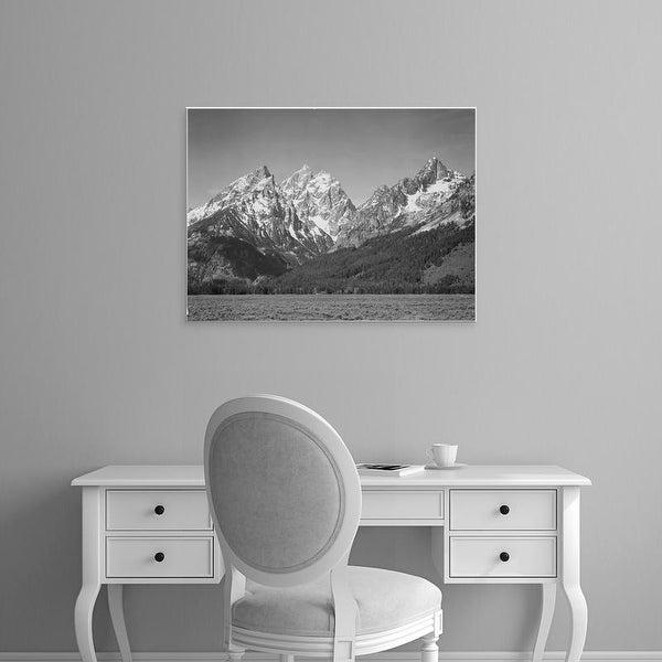 Easy Art Prints Ansel Adams's 'Grassy Valley, Grand Teton National Park' Premium Canvas Art