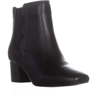 Bandalino Floella Zip Up Ankle Boots, Black/Black - 9 us