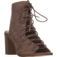 AR35 Savanah Lace-Up Casual Sandals, Taupe