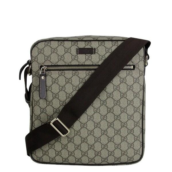 6e5df34fbcf Gucci Men  x27 s Shoulder Beige Ebony GG Coated Canvas Bag 201448 FCIGG