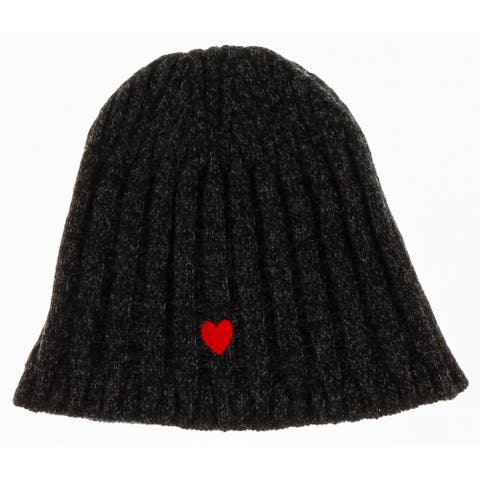 Moschino CAP01222 Wool Blend Chunky Ribbed Beanie Hat - One Size