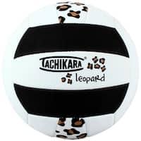 Tachikara SofTec Leopard Pattern Volleyball (Black/White/Tan) - White