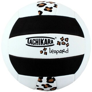 Tachikara SofTec Leopard Pattern Volleyball (Black/White/Tan) - White