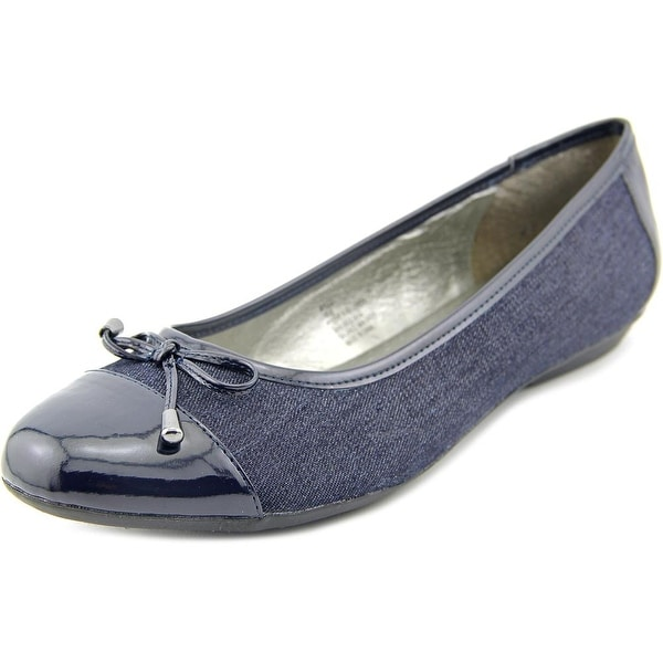 Karen Scott Rylee Women Cap Toe Canvas Blue Flats