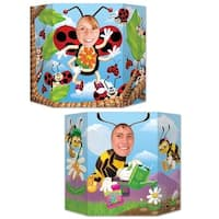 Pack of 6 Spring Time Double-Sided Ladybug and Bumblebee Stand-Up Cutout Photo Prop Decorations 3' - Multi