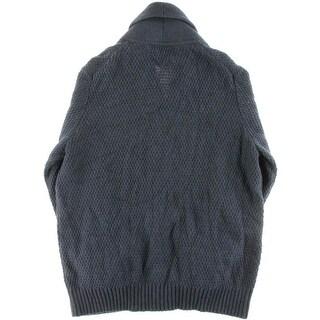 Tommy Hilfiger Mens Shawl Collar Long Sleeves Cardigan Sweater