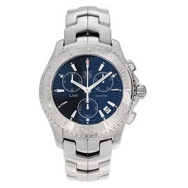 Tag Heuer Men's CJ1112.BA0576 'Link Series' Blue Dial Chronograph Bracelet Watch
