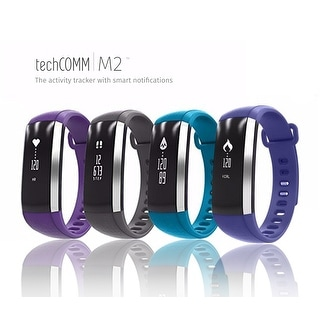 TechComm M2 Water-resistant Fitness Activity Tracker with Heart Rate, Blood Pressure and Blood Oxygen Monitor, and Pedometer