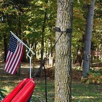 Sunnydaze Black Tree Straps Nylon Strap Rope Chain System for Hanging Hammocks