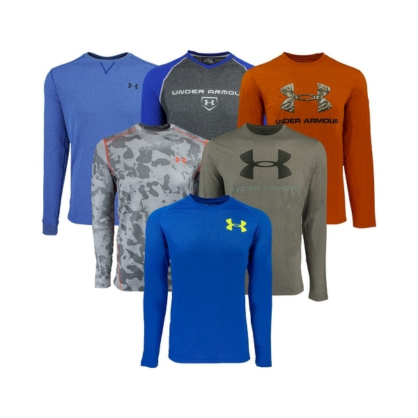c8534e8a99bf Shop Under Armour Men s Heatgear Mystery L S T-Shirt - Assorted - Free  Shipping On Orders Over  45 - Overstock - 23485364