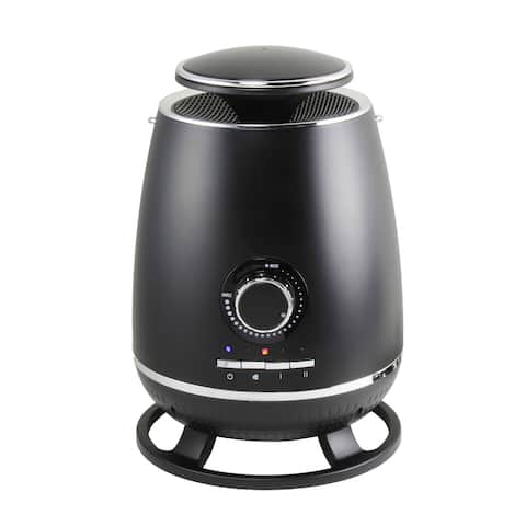 360 Degree Ceramic Heater with Safety Tip-over Switch, Black