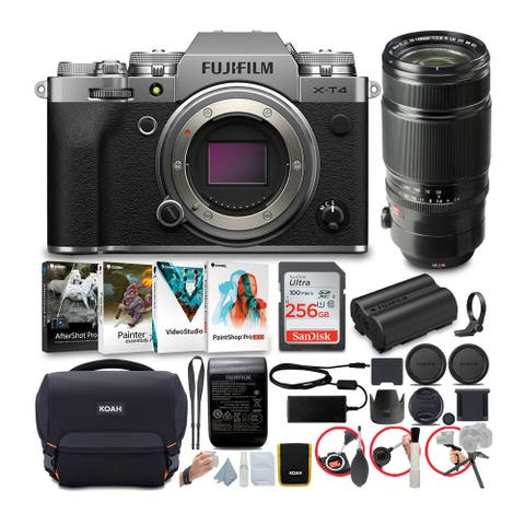 Fujifilm X-T4 Mirrorless Camera (Silver) with XF 50-140mm Lens Bundle