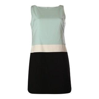 Lauren Ralph Lauren Womens Ponte Colorblock Wear to Work Dress