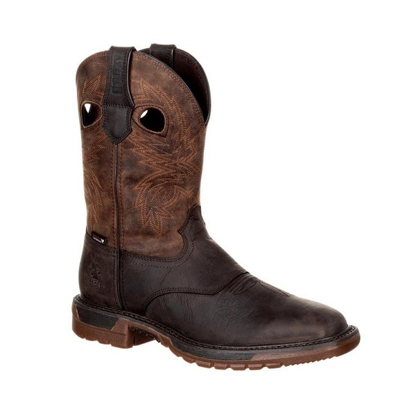 "Rocky Western Boots Mens Original Ride FLX 11"" Dark Brown"