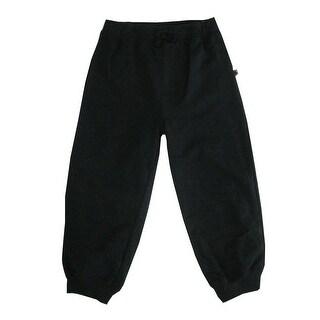 Little Me Little Boys Black Solid Color Adjustable Waist Sweat Pants 2-4T