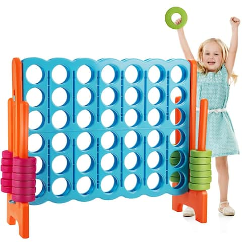 Jumbo 4 in A Row 4-to-Score Giant Game Set - Blue / orange