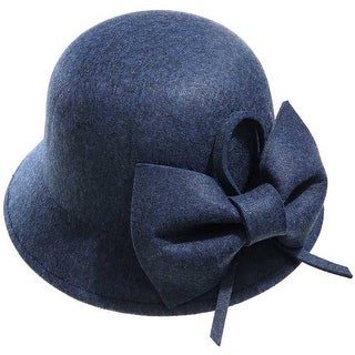 Mad Style Blue Bow Cloche Hat