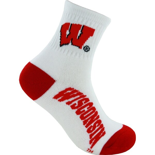 University of Wisconsin Badgers Logo Socks