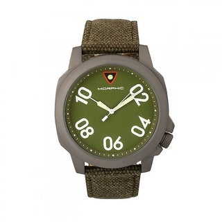 Morphic M41 Series Men's Quartz Watch, Canvas Strap, Luminous Hands
