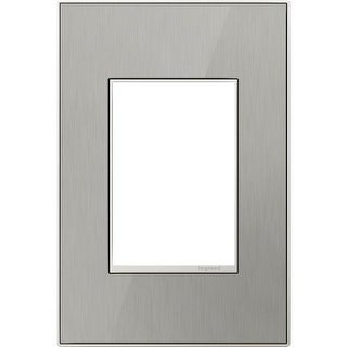 Legrand AWM1G3MS4 adorne 1 Gang Metal Wall Plate - 4.56 Inches Wide