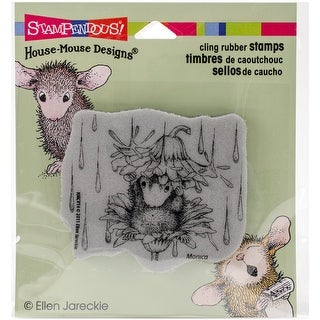 "Stampendous House Mouse Cling Stamp 3.5""X4"" -Rain Flower"