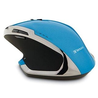 Verbatim Wireless Desktop 8-Button Deluxe Blue Led Mouse, Blue 99019