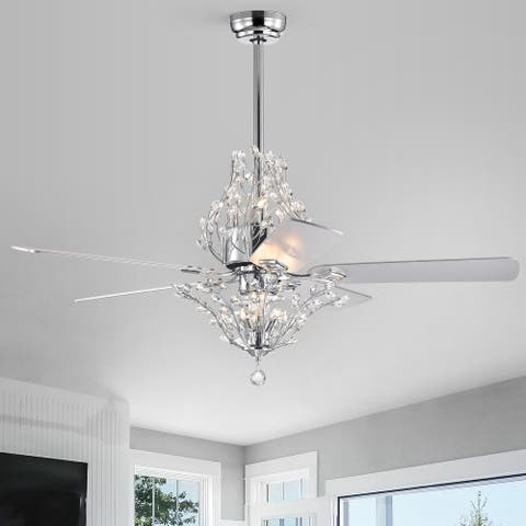 """52"""" Ophelia 5 Blade Chandelier Ceiling Fan with Remote Control and Light Kit Included"""
