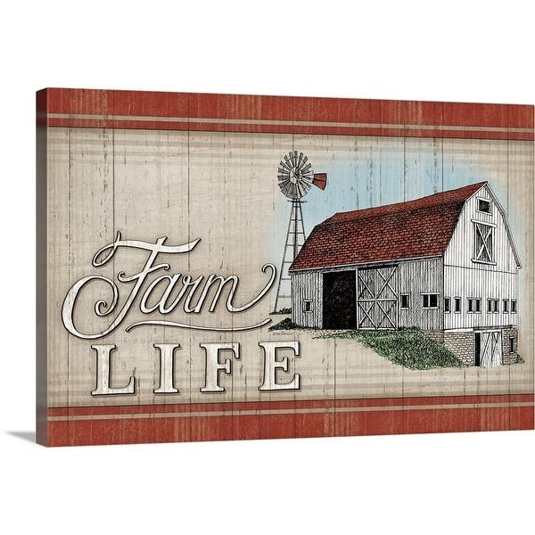 """""""The Farm Life"""" Canvas Wall Art"""