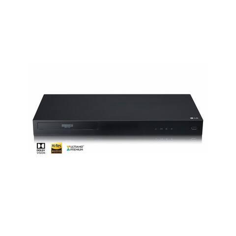 LG UBKC90 4K Ultra-HD Blu-Ray Player Bundle w/ HDMI Cable - Black