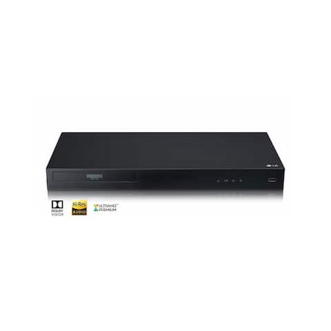 LG UBKC90 4K Ultra-HD Blu-Ray Player with Streaming Services and Built-in Wi-Fi - Black