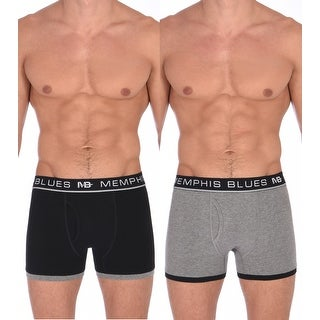 Memphis Blues Boxer Briefs For Men In Black And Grey