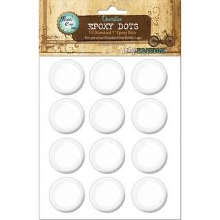 """Vintage Epoxy Dot Clear Stickers 1"""" 12/Pkg-Round - Round"""