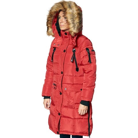 Canada Weather Gear Puffer Coat for Women- Long Faux Fur Insulated Winter Jacket
