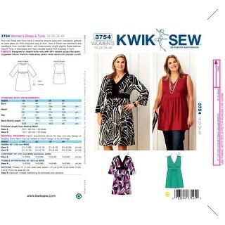 Dress & Tunic-1X - 2X - 3X - 4X -*SEWING PATTERN*