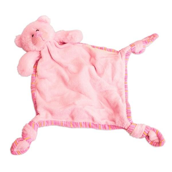 Russ Berrie Pink Bear Comfy Blanket