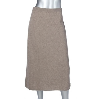 Eileen Fisher Womens Straight Skirt Cashmere Knit - L