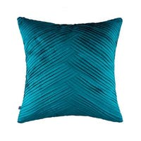 100% Handmade Imported Criss-Cross Throw Pillow Cover, Teal