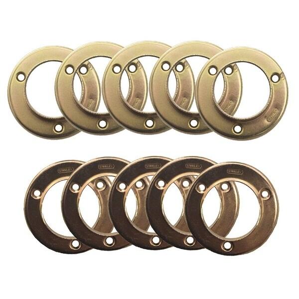 Design House 182766 Steel Closet Pole Sockets - Polished Brass
