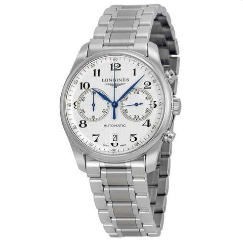 Longines Men's L2.629.4.78.6 'Master' Chronograph Stainless Steel Watch - Silver