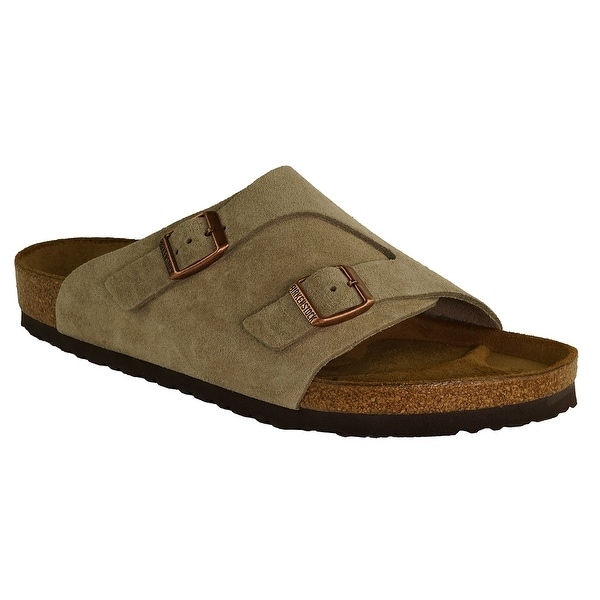 0447ef4476a1 Shop Birkenstock Zurich Suede Leather Sandals - Taupe - On Sale - Free  Shipping Today - Overstock - 23572931