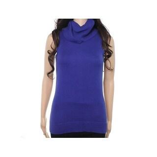 Michael Kors NEW Dark Azurite Blue Women Medium M Cowl Neck Knit Sweater