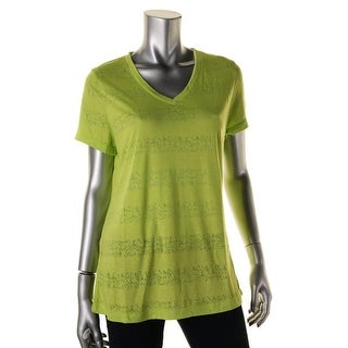 Spalding Womens Burnout Shadow Stripe T-Shirt - L