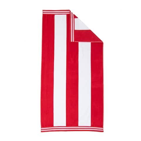 "Miranda Haus Winslow Oversized Cabana Stripe Beach Towel - 34"" x 64"" each"