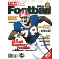 7f7427512 Bruce Smith unsigned Buffalo Bills Athlon Sports 1997 NFL Pro Football  Preview Magazine