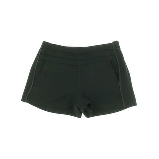 Juicy Couture Black Label Womens Dress Shorts Tuxedo Crepe