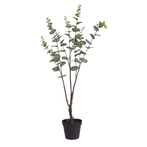 """30"""" Set of 2 Artificial Potted Eucalyptuses - N/A"""