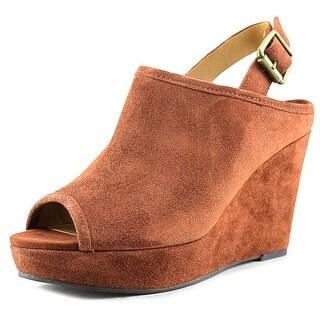 Lucky Brand Jemadine Women Open Toe Suede Wedge Heel